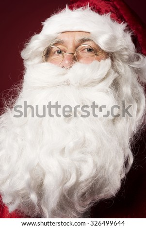Without a beard he wouldn't be a Santa - stock photo