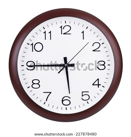 Without six to fifteen hours round dial - stock photo