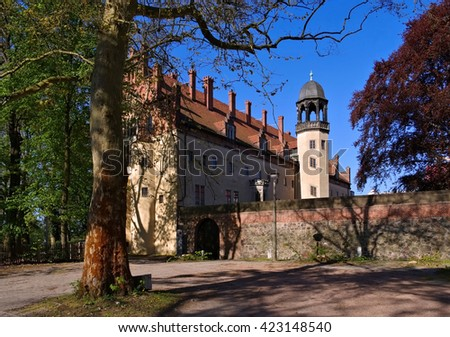 Wittenberg, the old building Lutherhaus in the city - stock photo