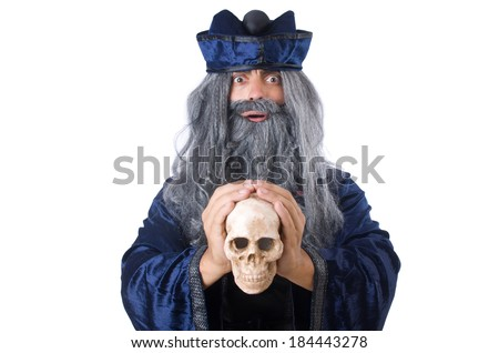 Wizard isolated on the wise background - stock photo