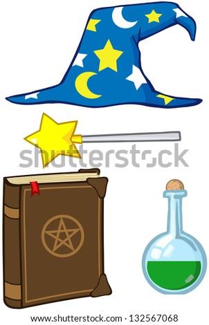 Wizard Stuff. Raster Illustration.Vector Version Also Available In Portfolio. - stock photo