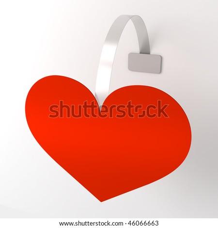 Wobbler red heart - stock photo