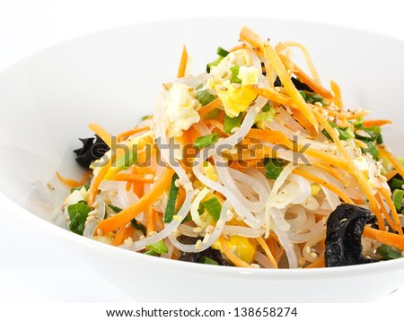 wok stir fry with vegetables. asian cuisine - stock photo