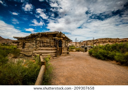 wolf ranch at Arches National Park - stock photo