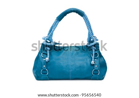 Woman accessory - stylish bag on white - stock photo