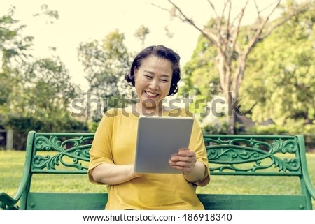 Woman Adult Browsing Digital Internet Network Concept
