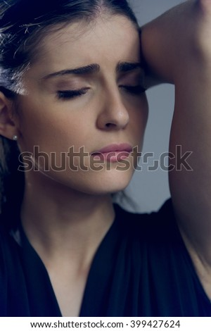 Woman after breakup feeling sad - stock photo