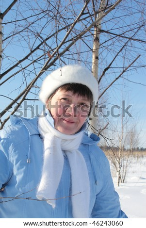 woman and birch