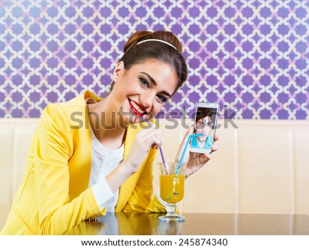 Woman and man dating online, distance relationship  - stock photo