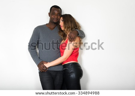 Woman and man in love