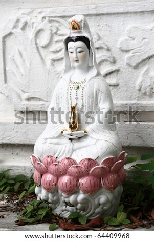 Woman angel statue know as Guan-im,Chinease famous god