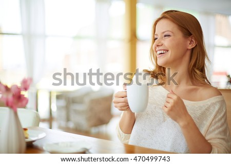 Woman at cafe