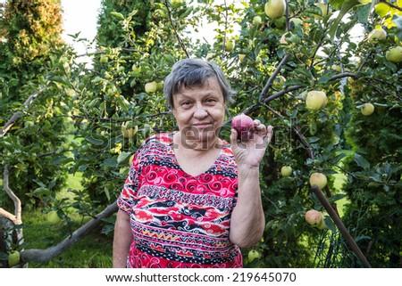 woman at garden - stock photo