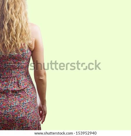 woman back - stock photo