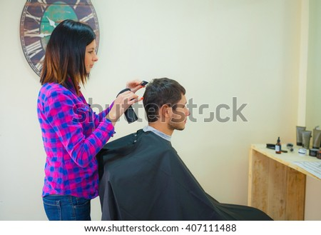 Woman barber
