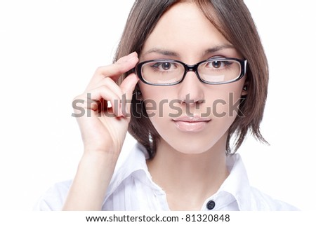 woman beauty glasses optic