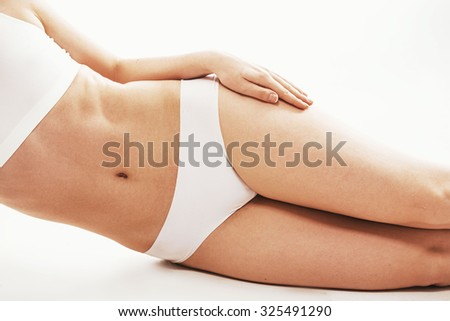 Woman body healthy natural skin