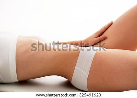 Woman body healthy natural skin - stock photo