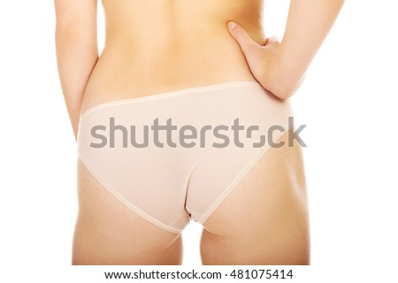Woman bottom with hand on it