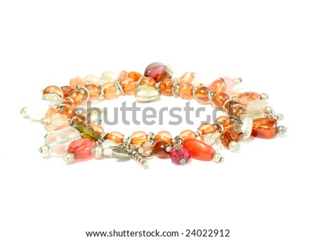 Woman  bracelet isolated on white background