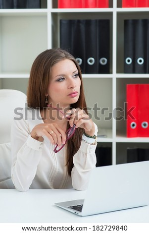 Woman, business, office