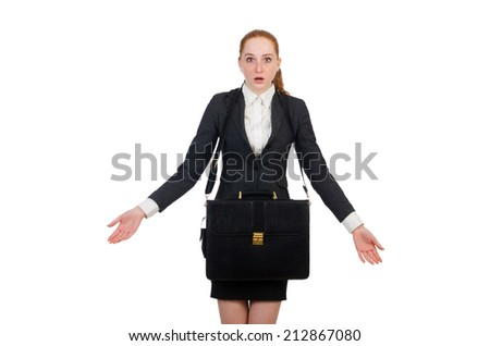 Woman businesswoman in business concept - stock photo