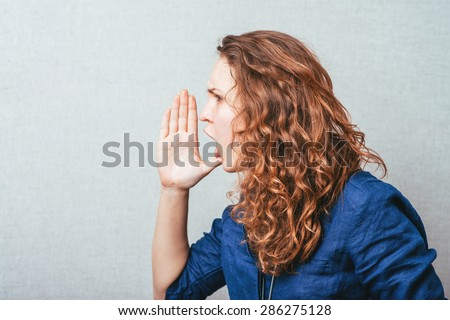woman calling someone - stock photo
