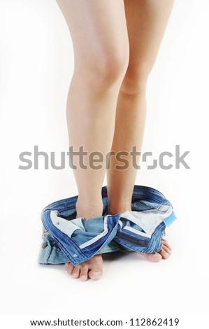 woman caught pants down stock photo edit now 112862419