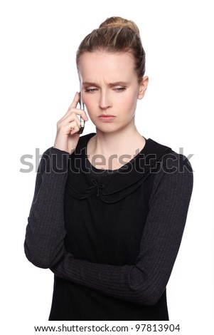 woman cellphone angry - stock photo