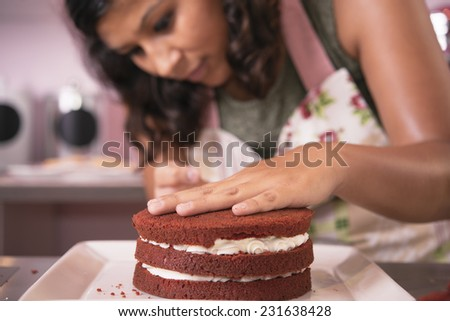 Woman chef - stock photo
