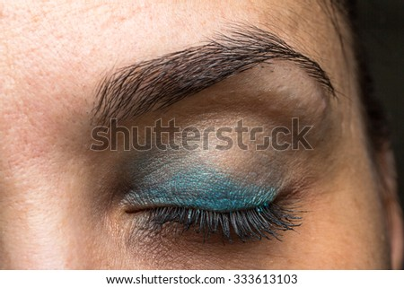 Woman closed eye