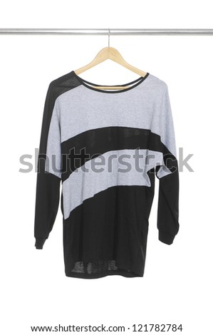 woman clothes on a hanger studio isolated - stock photo