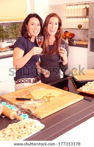 woman cooking together