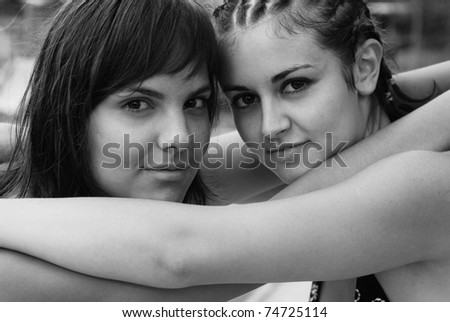 woman couple - stock photo