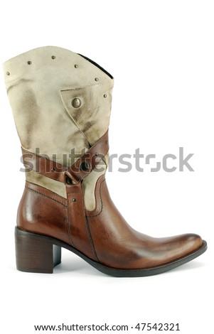 woman cowboy boot - stock photo