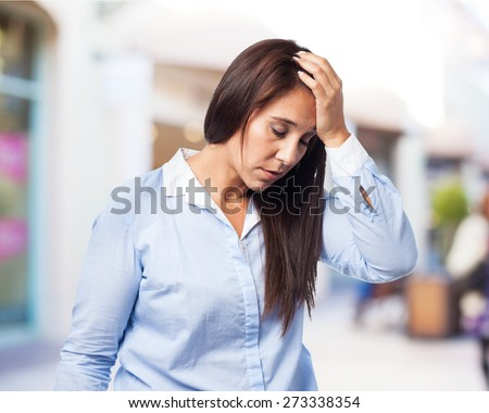 woman depressed isolated