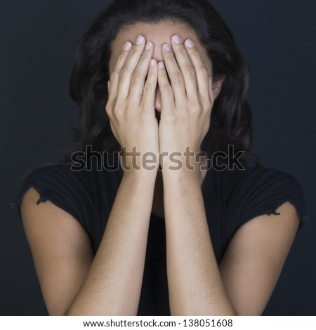 woman desperate - stock photo