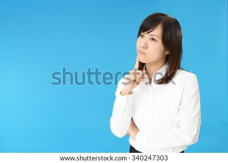 Woman dissatisfied expression