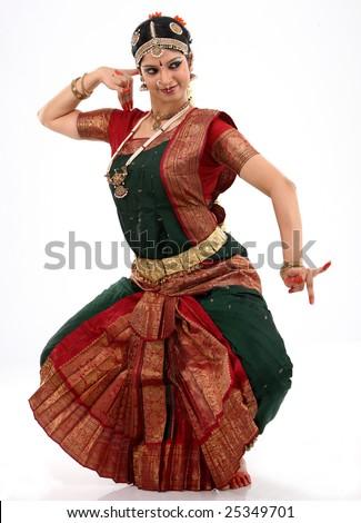 woman doing dancing posture - stock photo