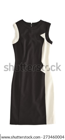 woman dress isolated - stock photo