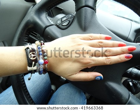 Woman Driver Peace