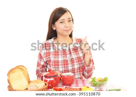 Woman eating foods - stock photo