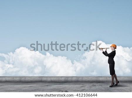 Woman engineer - stock photo