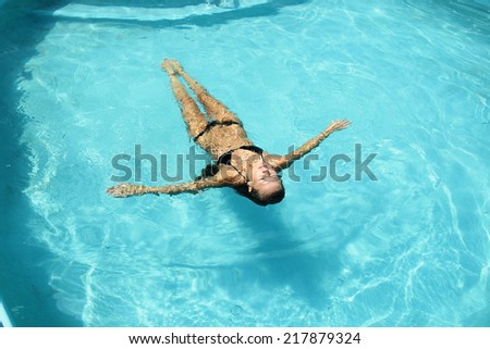 woman enjoying her vacation - stock photo