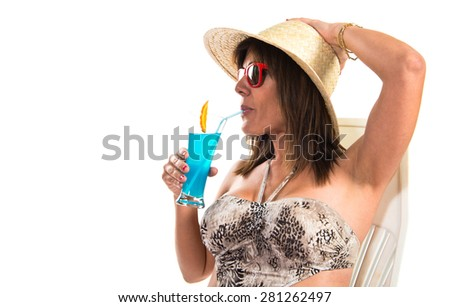 Woman enjoying summer vacation