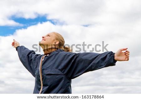 Woman enjoying the life - stock photo