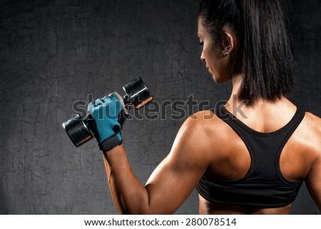 Woman exercising - stock photo