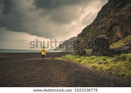 Woman exploring the nature, Azores, Portugal