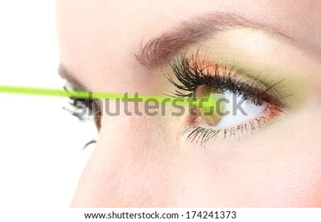 Woman eye with laser correction