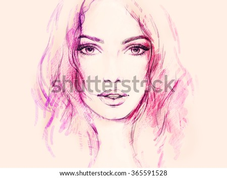 woman face. abstract fashion illustration